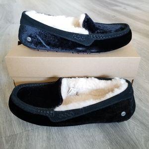 UGG Ansley Velvet Slippers.